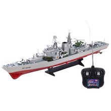 HT 2879A 1:275 Remote radio control military RC boat destroyer model toy Simulation Model RC Warship Cruiser Warship best gift