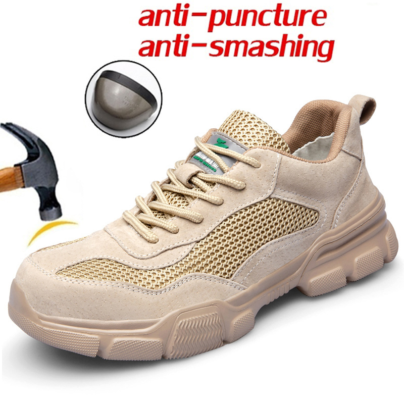 Mode été chaussures de sécurité anti-fracassant anti-piercing isolation électrique chaussures de protection hommes travail et bottes de sécurité