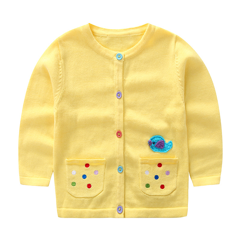 51ffaea0f Newborn Infant Sweaters Cute Bird Embroidery Knit Cardigan for Girls ...