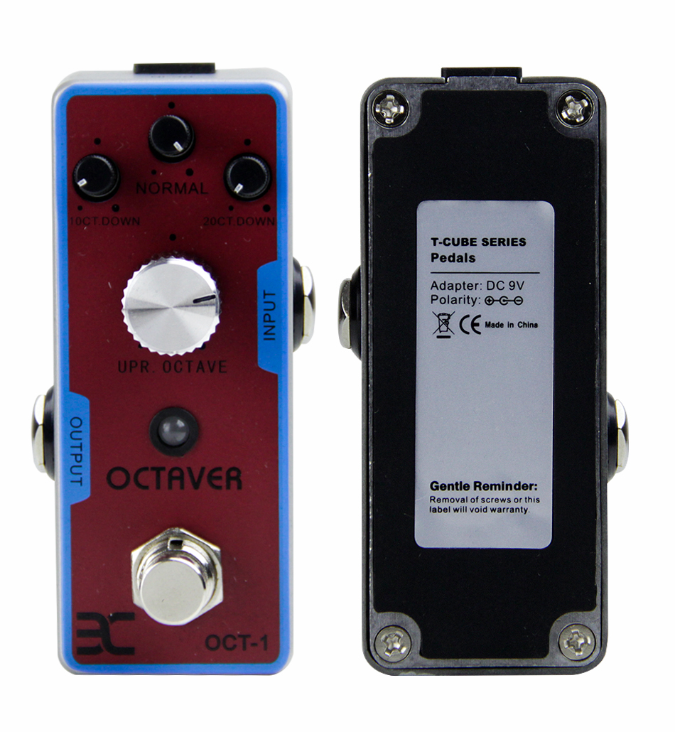 eno oct 1 octaver guitar effect pedal true bypass guitar pedal with 4 controllers guitar. Black Bedroom Furniture Sets. Home Design Ideas