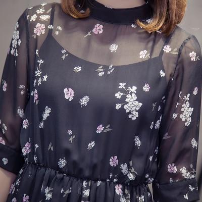 CHUNLI Large size XL 2XL 3XL 4XL 5XL 2019  Women summer dress slimming floral dress + condole belt two pieces. 5