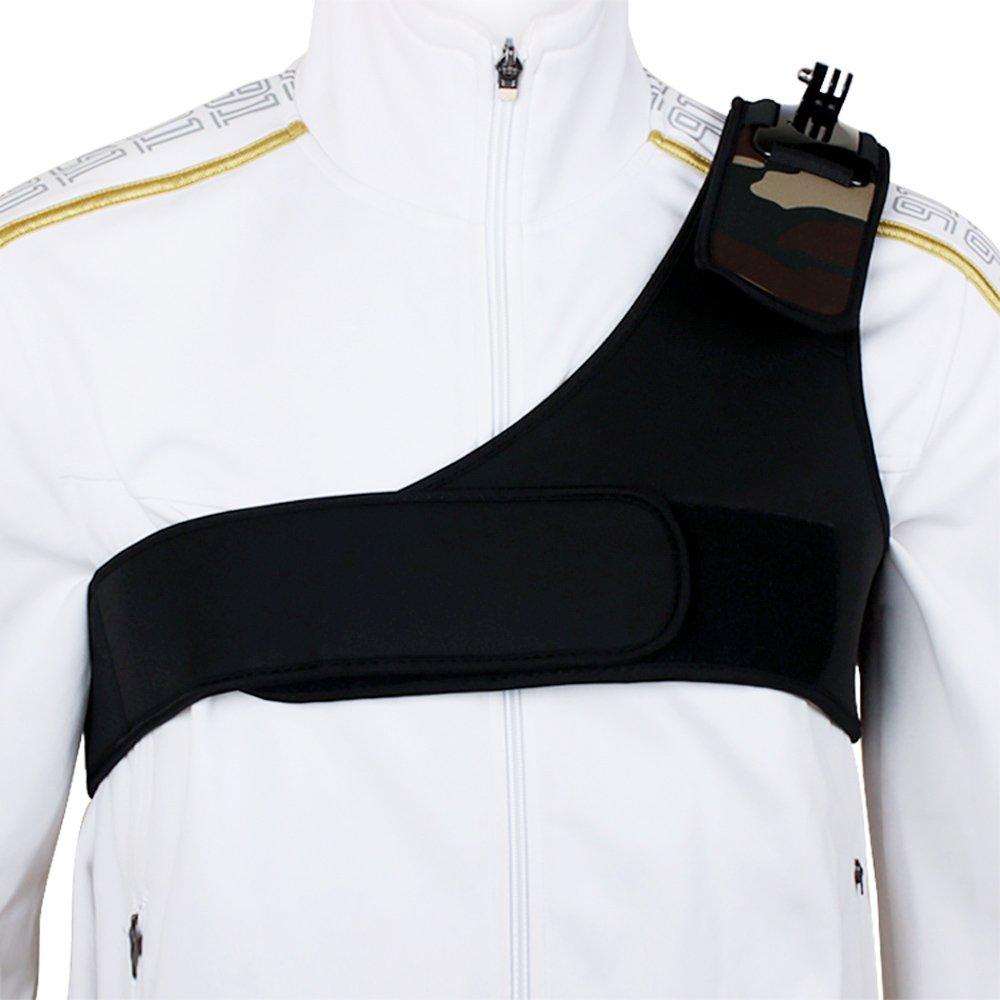 ETC-ingle Shoulder Wide Strap Mount Chest Harness Belt Adapter for Gopro Hero 1 2 3 3+ Camera