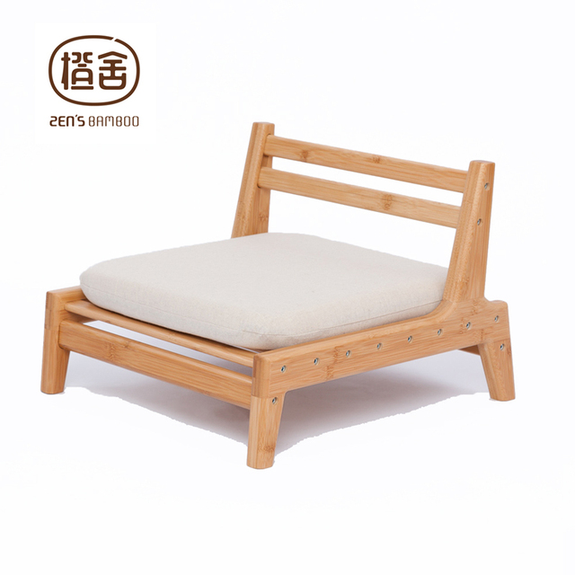 ZENu0027S BAMBOO Meditation Chair Japanese Style Chair With Cushion Assemble  Backrest Floor Seats Living Room Furniture