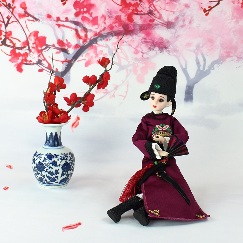 35cm Handmade Chinese Dolls Tang Dynasty Princess Doll Orient Ancient Costume BJD Dolls For Girl Christmas Gifts