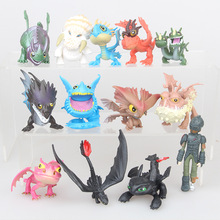 7/8/13pcs/set 5~7cm How to Train Your Dragon 2 Night Fury Toothless PVC Action Figures Christmas Gifts