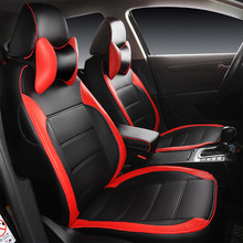 Hlfntf Custom Lederen Auto Seat Cover Voor Nissan Qashqai Note Juke Tiida X-Trail Auto Accessoires Auto-Styling(China)
