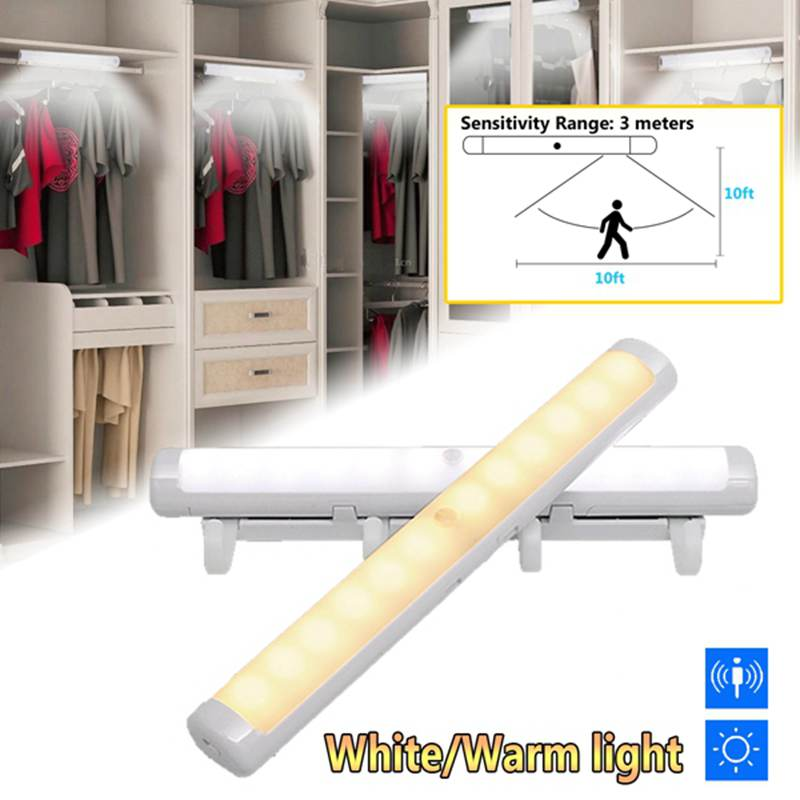 Battery Powered 12LED Cabinet Closet Light Smart PIR Human Body Induction Motion Sensor Wardrobe Cupboard LED Night Light tsleen 1x cabinet pir motion sensor led cupboard shed garage light usb battery powered