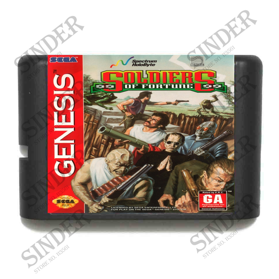 Soldiers Of Fortune 16 Bit MD Game Card For Sega Mega Drive For Genesis