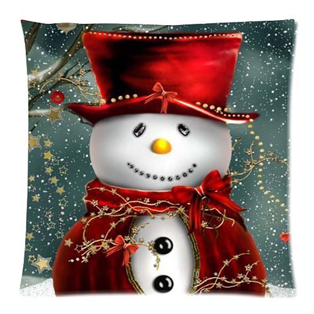Image 4 - Merry Christmas Pillow Cover Santa snowman Cotton Linen Sofa Modern Cozy Throw Cushion Cover Home Bed Car Decoration-in Cushion Cover from Home & Garden