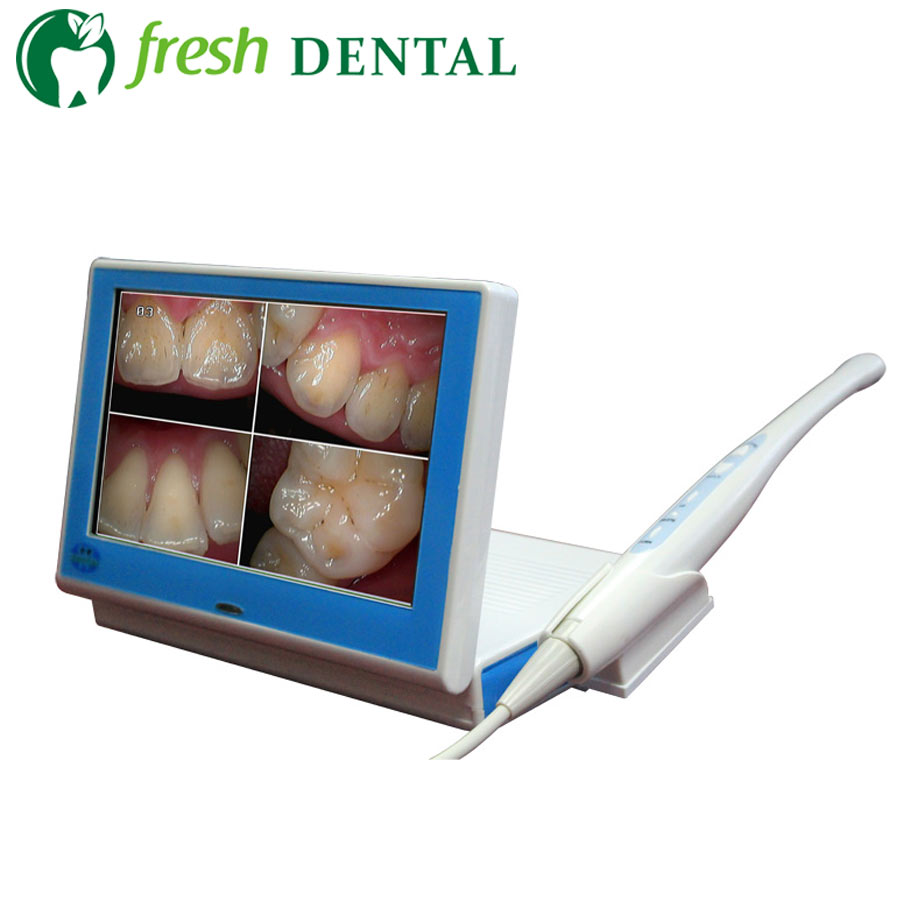 Dental Intraoral With 8 Inch Screen Wired Wireless Intra Oral Camera 1.3Mega Pixels 2G SD Card 500mA Battery SONY CCD TW125 ce approved wireless dental intraoral cameral usb vga video output 2 0 mega pixels