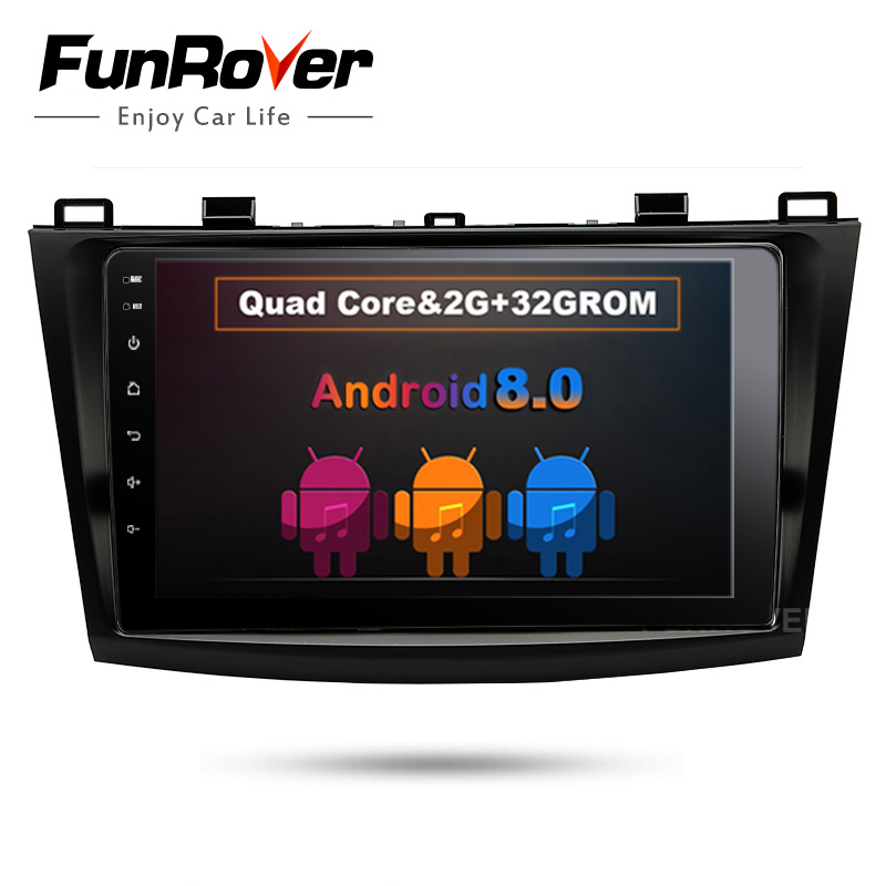 Funrover 9 2 din car dvd radio recorder multimedia for MAZDA 3 mazda3 2010-2013 android 8.0 wifi gps stereo navi headunit video funrover 9 2 din android 8 0 car radio multimedia dvd player gps for great wall haval h3 h5 2010 2013 glonass wifi fm quad core
