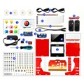 Waveshare Arcade-101-1P Accessory Pack Arcade Machine Building Kit for Raspberry Pi Includes 10.1inch IPS Screen