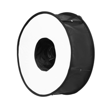 45CM Ring Macro Shoot Softbox Diffuser for Canon Nikon Nissin Metz Godox SpeedLite Flash Light(China)