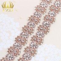 (10 yards) Groothandel Handgemaakte Hotfix Sewon Kralen Crystal Applique Steentjes Decoratieve Trim voor Bridal Dress Sash of Hoofdbanden