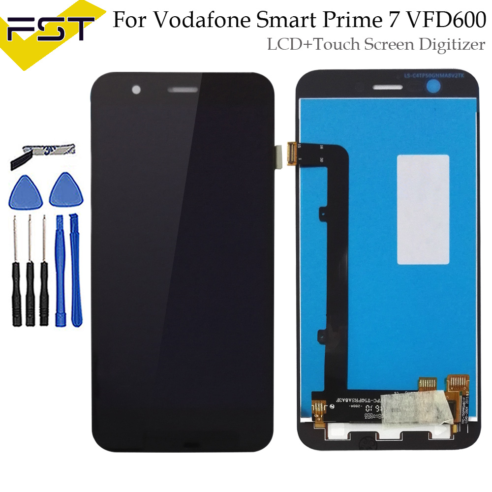 For Alcatel Vodafone Smart Prime 7 VFD600 LCD Display Touch Screen Phone Digitizer Assembly Replacement Parts With Tools