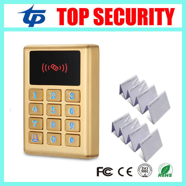 Single door access controller surface waterproof RFID card 125KHZ EM card access control reader metal cover security door opener waterproof card reader 125khz rfid card reader door access control system for home security for home security f1705h
