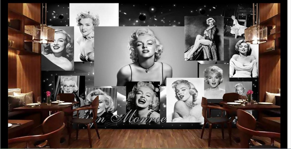 3d Wallpaper Custom 3d Murals Wallpaper Europe And The United States Wind Marilyn  Monroe Bar Background Wall Paper Room Decor