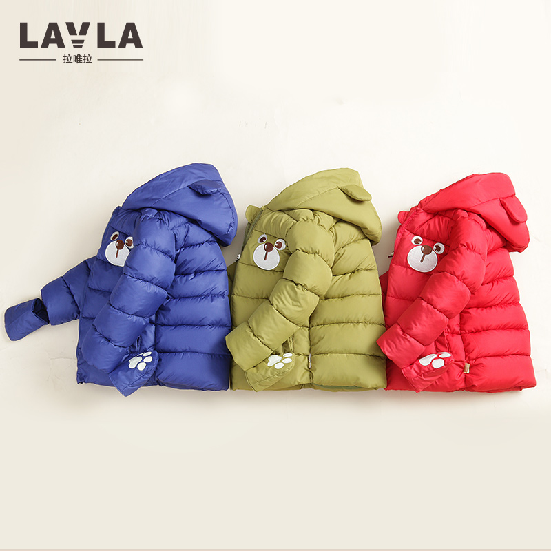 LAVLA Children Jackets Boys Girls Winter Padded cotton coat 2017 Baby thicken Coat Kids warm outerwear Hooded Coat for 9M-6 yrs
