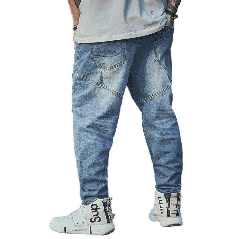 UUYUK Men Capri Pockets Denim Lightweight Plus Size Shorts