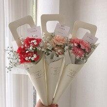 10 шт. Новые цветочные упаковочные сумки одиночная Роза сумки цветы Оберточная Бумага День Святого Валентина розовая сумка