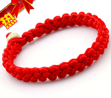Hot Wholesale Fashion Jewelry 50pcs Handmade  Braided Transport Lucky Red String Charm Woman Good Bracelets&Bangle S377