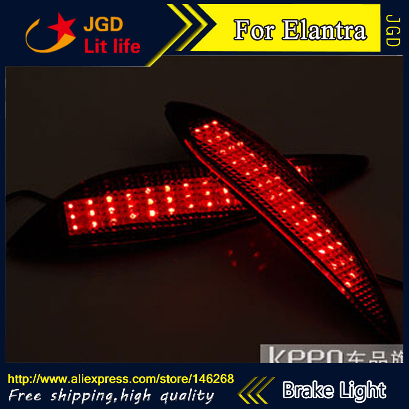 Free shipping Tail light parking warning rear bumper reflector for Hyundai Elantra 2011 Car styling [ free shipping ] brand new led rear light led back light benz style tail lamp for hyundai elantra 2012