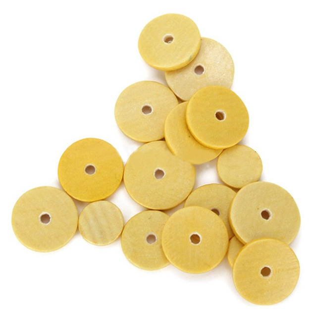 16Pcs/Set Flute Pads 16 Open Hole Great Material 4 Size Pads Yellow For Woodwind Flute Musical Instrument Accessories