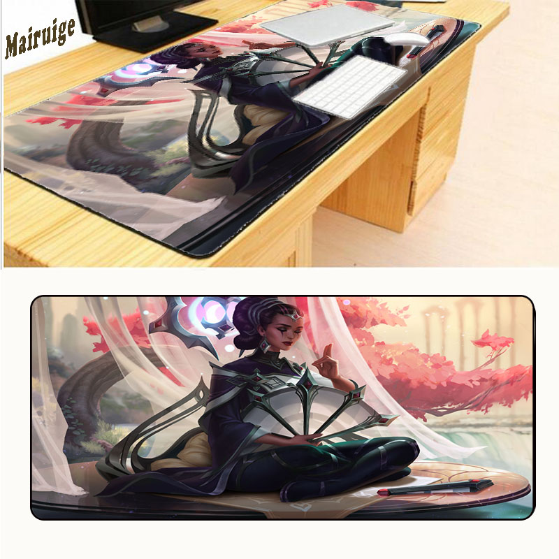 Mairuige League of Legends Jinx Black Lock Edge Rubber Computer Game CSGO Mouse Large Mouse MousePad Free Shipping 900*400*2mm