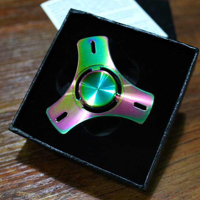 Tri-Spinner Fidget Toy Plastic EDC Hand Spinner For Autism and ADHD Rotation Time Long Anti Stress Kid Adults Toys