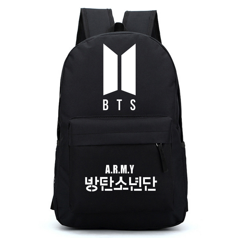 Kpop Korean BTS Bangtan Boys New Logo Door ARMY Letter Men Shoulder Backpack For Women Schoolbag Fans Collection Travel Laptop bts kpop pu kpop bangtan boys schoolbag women bookbag shoulder bts exo xxoo got7 b a p bigbang tourism student canvas