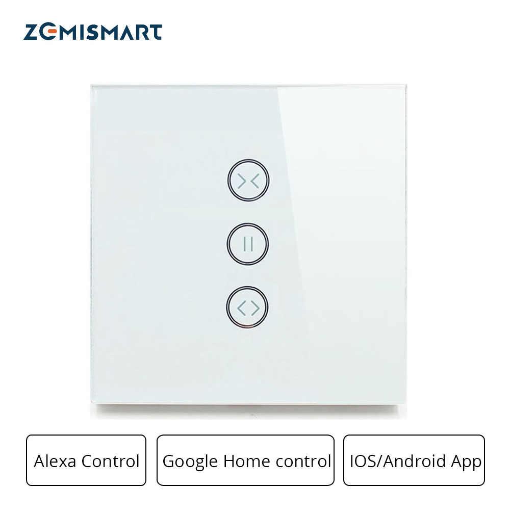 Zemismart Google Alexa domu Echo przełącznik kurtyny ślepy przełączniki dla walcowe standardowe silnika slajdów silnika Wifi APP Siri kontroli
