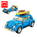AIBOULLY 1114 Mini Blöcke Technik Mini Stadt Auto Modell Bausteine Fahrzeug Racing Auto Montage Spielzeug Für Kinder LOZ|Sperren|   -