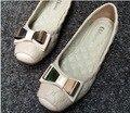 Sprin Senhoras GUIXIANGLAI Antiderrapante Sapatos de Outono Plana Sapatos de Couro Genuíno Das Mulheres Bailarina Sapatos pretos Flats Novas Sapatilhas Femininas