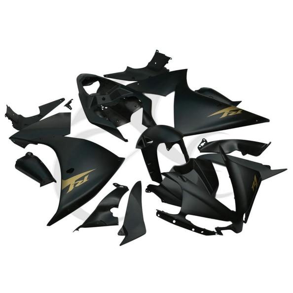 Black Bodywork ABS Plastic Fairing Set For Yamaha YZFR1 YZF-R1 YZF R1 2012 2013 custom free 100% injection mold fairings kits for yamaha yzf r1 2002 2003 yzfr1 02 03 yzf r1 black white abs fairing body parts