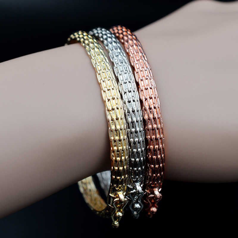 Sunny Jewelry Classic Jewelry Dubai Copper Open Cuff Big Small Bangles Bracelets For Women Girls Daily Gifts Jewelry Findings