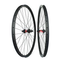 Asymmetric 29er 24mm inner width carbon wheelset with DT swiss Hubs XC Trail All Mountain  - WM-i24A-9 elite dt swiss 240 series mtb wheelset 40mm width 32mm depth carbon fiber rim for 29er am dh enduro mountain bike wheel
