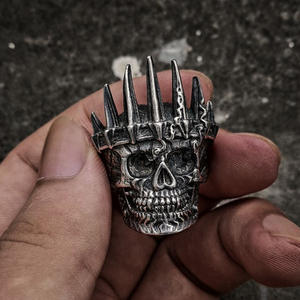 EYHIMD Biker-Rings Jewelry Crown Skull Punk 316l-Stainless-Steel Mens Classical Nobility-King