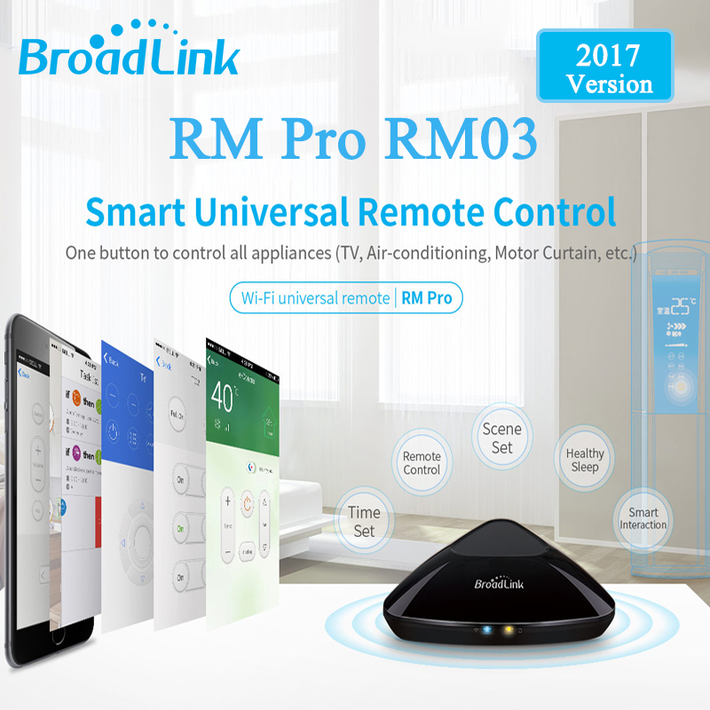 2017 Broadlink RM03 RM PRO Universal Intelligent Remote <font><b>Controller</b></font> Smart Home Automation WiFi+IR+RF Switch Via IOS Android Phone