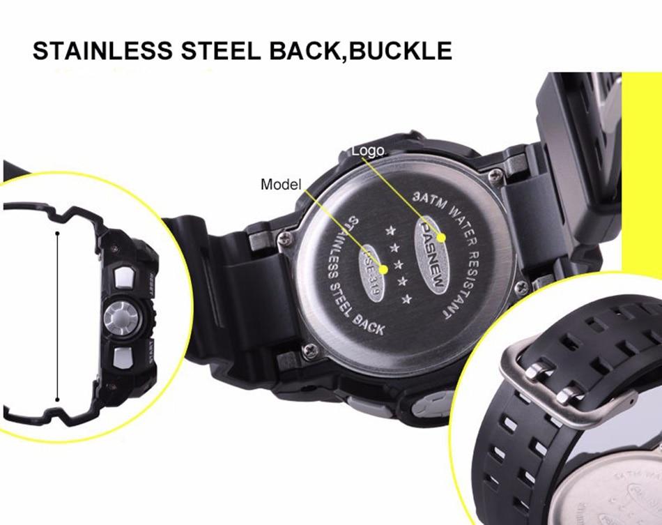 2018 Free Shipping Fashion Men Watch Waterproof Sport Men Wristwatch S Quartz Digital Boy Clock Relogio Masculino (10)