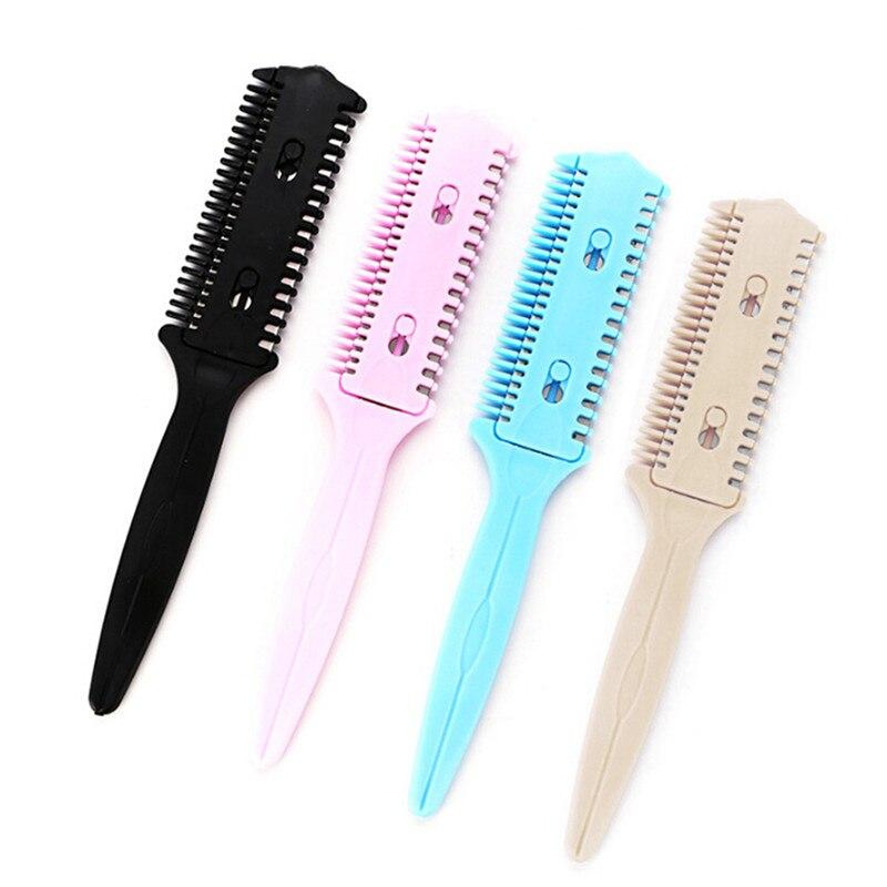 Купить с кэшбэком 1pc Double Sides Hair Razor Comb Cutter Cutting Thinning Shaper Haircut Grooming Men Women Hair Trimmer Styling Tool