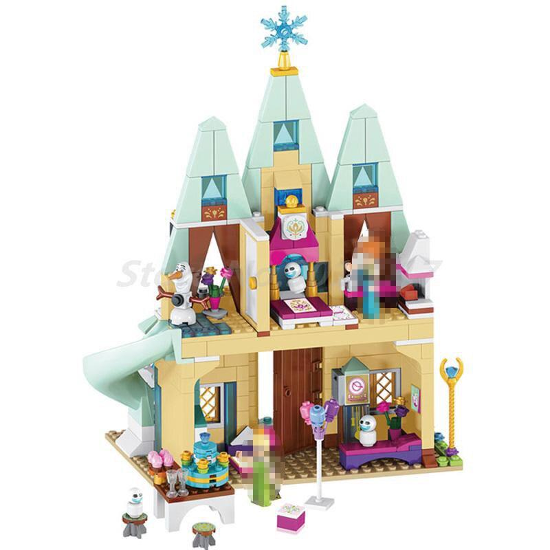 LELE 79277 Girl Friends Arendelle Castle Celebration Princess Anna Elsa 41068 Building Blocks Bricks Toys For Children Christmas