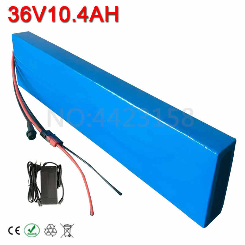 500W 36V 10AH E-Bike Lithium ion Battery 36V Electric Bike Scooter Battery 10AH use 3.7V 2600MAH cells 15A BMS Free Customs Fee