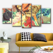 5 Pieces Canvas Painting Naruto Poster Anime Quadri Su Tela Per Soggiorno Pintura Posters And Prints Living Room Drop Shipping