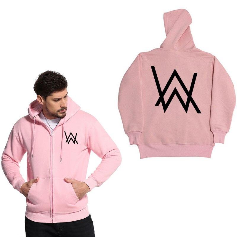 Fashion Zipper hoodie sweatshirt Music DJ Divine Alan Walker Faded Hoodies Sweatshirts Men Zipper hoody Jacket Brand clothing