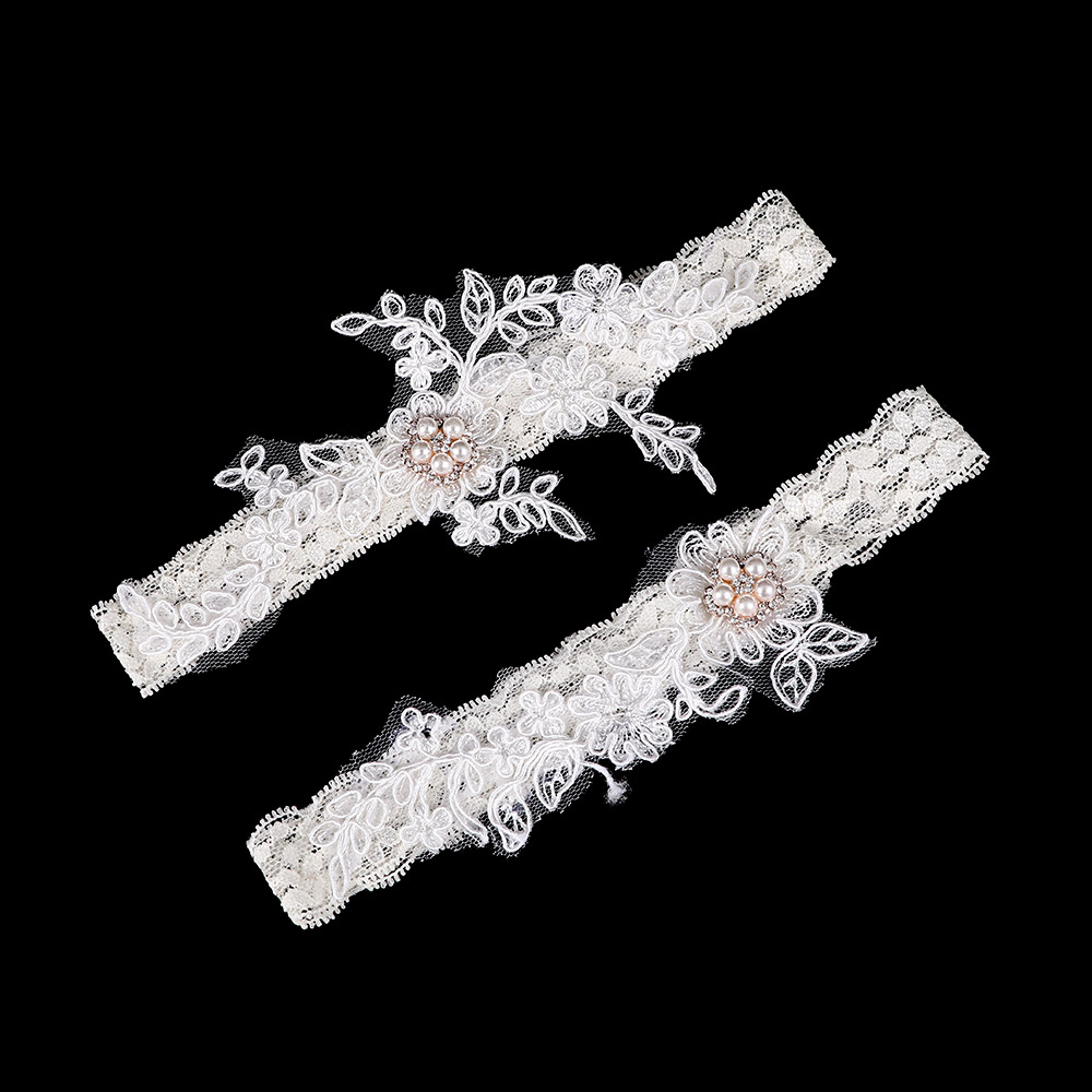 2pcs/set Hot Bride Leg Garters Lace Rhinestone Handmade Sexy Garters For Wedding Bridal Jewelry Thigh Ring Women's Intimates Underwear & Sleepwears