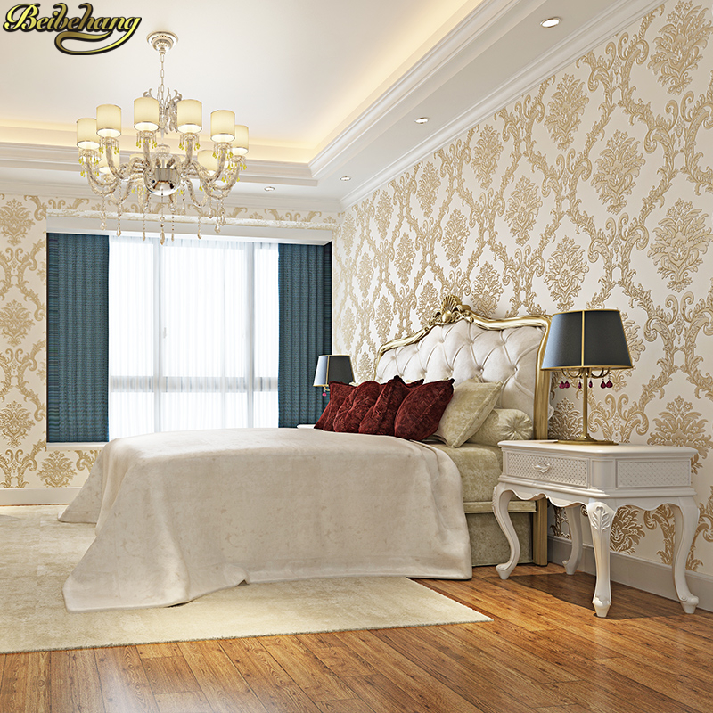 beibehang Embossed Damascus luxury papel de parede 3d wall paper roll mural wallpaper for living room TV background bedroom beibehang embossed damascus non woven wall paper roll modern designer papel de parede 3d wall covering wallpaper for living room