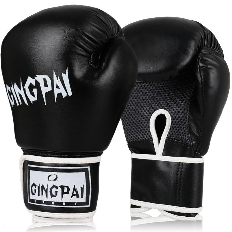 MMA PU Gants De Boxe En Cuir Hommes/Femmes Sacs De Sable/Taekwondo/Muay Thai/Combat/Boxe De Luva formation Poinçonnage Gant Équipement De Sport dans   de