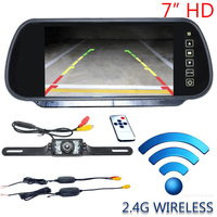 Auto Parking Assistance 7 Inch TFT LCD Car Rearview Mirror Monitor With Wireles Night Vision Car