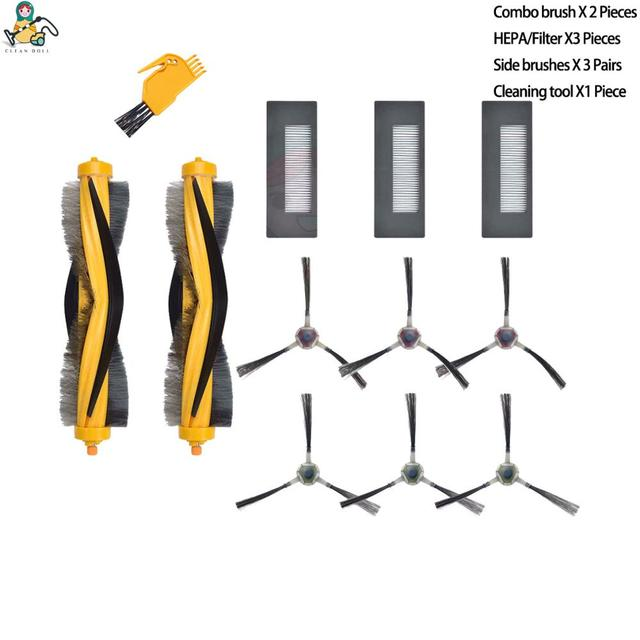 Substituição DM88 KTA escova lateral hepa filtro principal escovas para ecovacs deebot m87 m88 deebot 900 deebot 901 acessórios peças