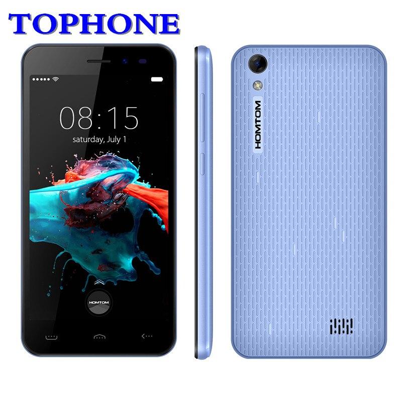 Original HOMTOM HT16 Smartphone 3g WCDMA Android 6.0 Quad Core MTK6580 handy 5,0